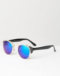 Круглые солнцезащитные очки с голубыми стеклами Jeepers Peepers