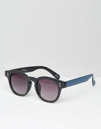 Круглые солнцезащитные очки с контрастными дужками в полоску Jeepers P