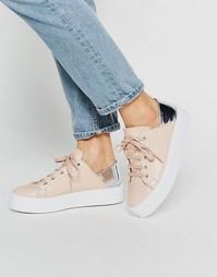 Кроссовки на шнуровке и плоской платформе ASOS DOWNTOWN