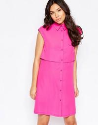 Цельнокройное платье Twin Sister - Fluro pink