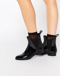 Glamorous Black Chelsea Wellington Boots - Черный