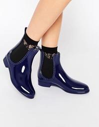 Синие резиновые сапоги челси Glamorous - Темно-синий