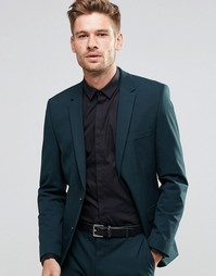 Пиджак узкого кроя из ткани стретч Selected Homme - Бутылочный зеленый