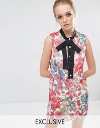 Цельнокройное платье с цветочным принтом Sister Jane - Мульти