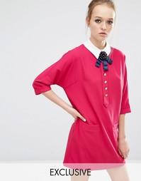 Цельнокройное платье с контрастным воротником Sister Jane Siren Song