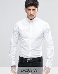 Рубашка с золотистой булавкой на воротнике Noose & Monkey - Белый