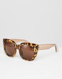 Солнцезащитные очки в тяжелой черепаховой оправе AJ Morgan