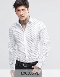 Рубашка с черепами Noose & Monkey - Белый