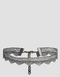 Кружевное ожерелье-чокер Regal Rose Aris - Серебряный