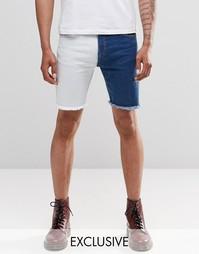 Синие прямые джинсовые шорты с эффектом деграде Liquor & Poker