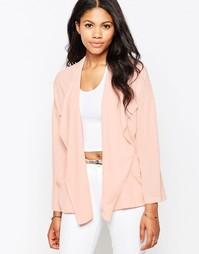 Пиджак из мягкой ткани Love - Blush