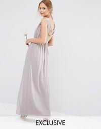 Платье макси с декоративной отделкой сзади TFNC WEDDING