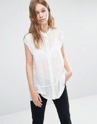 Рубашка с баской Gestuz Daisy - Cloud dancer