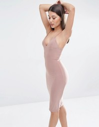 Платье-миди с бретельками Club L - Stone