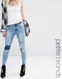 Состаренные джинсы с заплатками Noisy May Petite Lucy - Синий