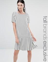 Платье в полоску со складками Y.A.S Tall - Мульти