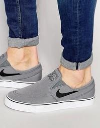 Кроссовки-слипоны Nike SB Zoom Stefan Janoski 831749-001 - Серый
