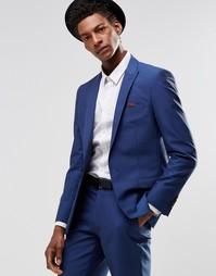 Ярко-синий пиджак узкого кроя Harry Brown - Синий