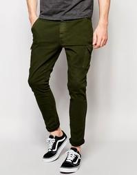 Джинсовые брюки-карго Hoxton - Зеленый
