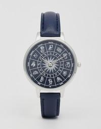 Часы со знаками зодиака на циферблате ASOS - Темно-синий
