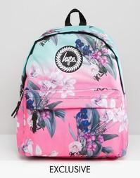 Эксклюзивный рюкзак с цветочным принтом и эффектом омбре Hype