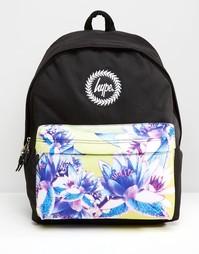 Эксклюзивный рюкзак с контрастным цветочным принтом на кармане Hype