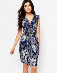 Платье с принтом пейсли Mela Loves London - Темно-синий