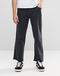 Джинсы с широкими штанинами Brooklyn Supply Co - Выбеленный черный