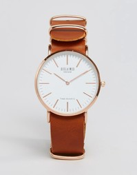 Часы со светло-коричневым кожаным ремешком Reclaimed Vintage - Рыжий