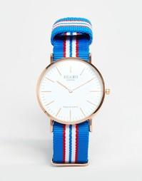 Часы с полосатым парусиновым ремешком Reclaimed Vintage - Синий