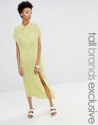Платье-рубашка с короткими рукавами и боковым разрезом Adpt Tall