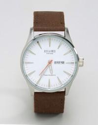 Часы с замшевым коричневым ремешком Reclaimed Vintage - Коричневый