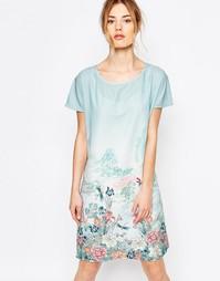 Платье-туника с принтом реки Uttam Boutique - Синий