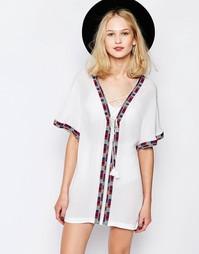 Платье-туника с вышивкой Piper Xico - Белый
