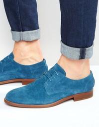 Синие замшевые туфли дерби ASOS - Синий