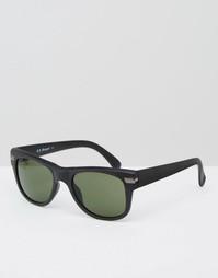 Черные матовые солнцезащитные очки в стиле ретро AJ Morgan - Черный