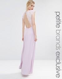 Платье макси с лифом из цветочного кружева для миниатюрных John Zack