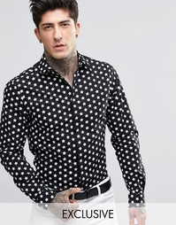 Рубашка с принтом звезд Noose & Monkey - Черный
