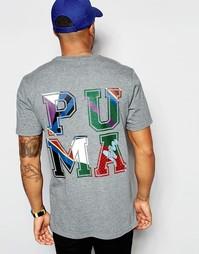 Удлиненная футболка с принтом сзади Puma X Dee & Ricky - Серый