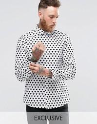 Рубашка в сердечко Noose & Monkey - Белый