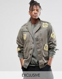 Куртка с нашивками‑тиграми Reclaimed Vintage - Хаки