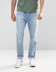 Голубые мраморные джинсы слим Levi's Line 8 522 - Светло-голубой