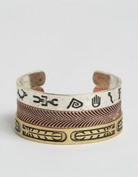 Набор декорированных полированных браслетов ASOS - Мульти