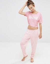 Пижамный комплект Boohoo Princess - Розовый