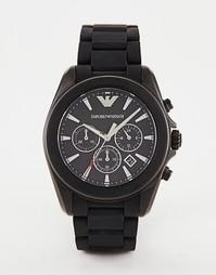 Часы с хронографом и черным ремешком Emporio Armani Sigma AR6092