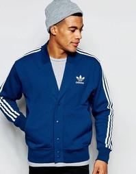 Спортивный кардиган в стиле ретро Аdidas Originals AJ7861 - Синий