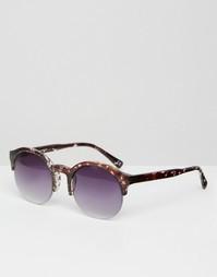 Черные круглые солнцезащитные очки в стиле ретро ASOS - Черный