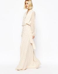Платье макси в стиле 70‑х с золотистым принтом Gestuz
