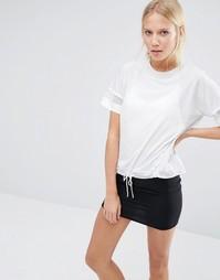 Oversize-футболка с отделкой на талии Nike - Белый