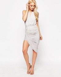 Sistaglam Cheryl Asymmetric Dress - Серый